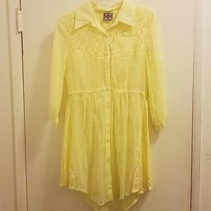 Free People Yellow Tunic